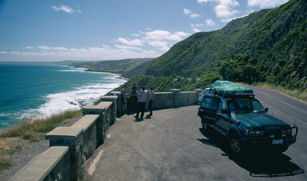 A lookout along the Great Ocean Road, Victoria, 2016