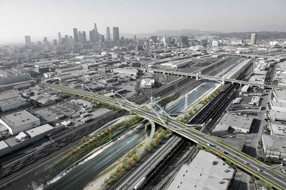 Sixth Street Bridge Replacement Competition, Los Angeles. Designed while at AECOM.