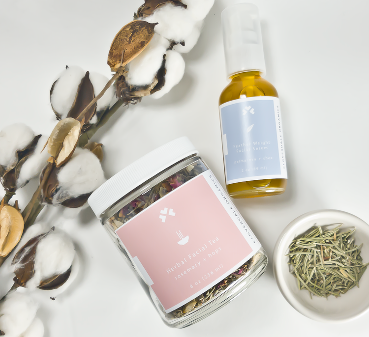 Cloverdale Rosemary + Hops Facial Steam, $29. Certified Organic ingredients.