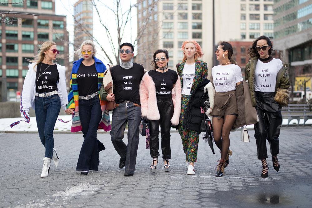 Prabal Gurung Statement Shirts During New York Fashion Week