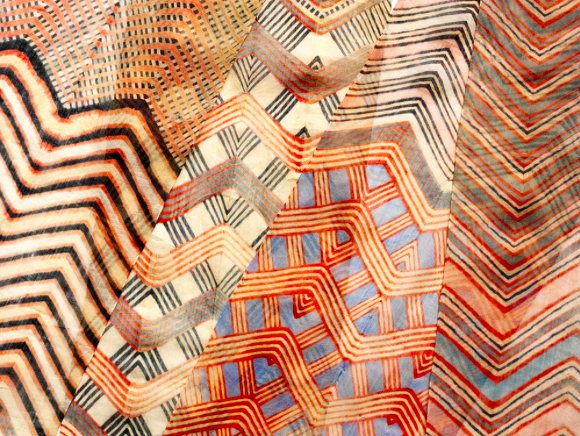 Turban Cloth (detail), tie-dyed cotton, probably Jaipur, Rajasthan, India, about 1855. Museum no. 5735a (IS), Copywright Victoria and Albert Museum, London