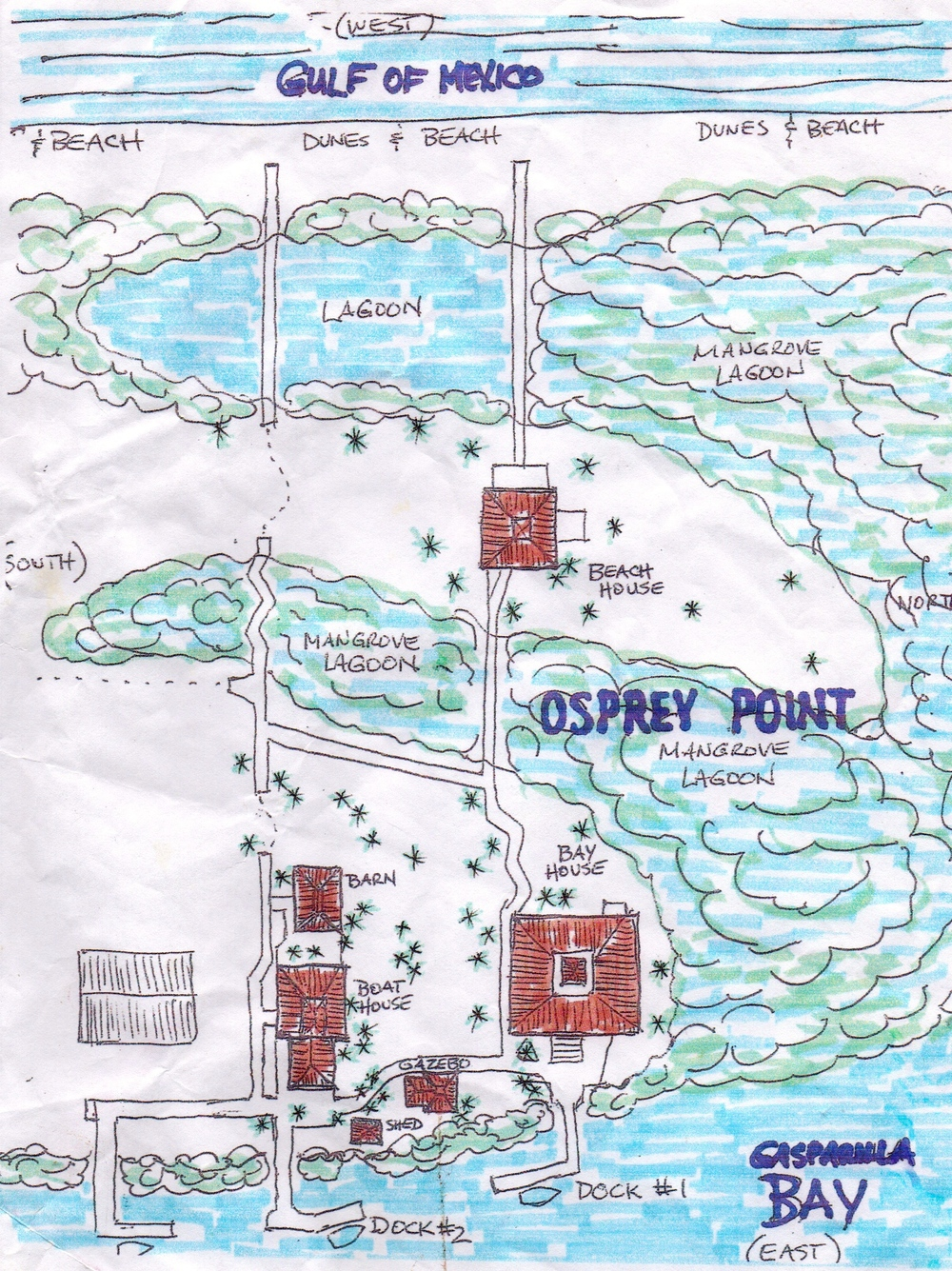 Map of Gasparilla Getaways