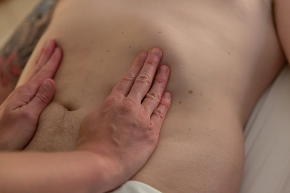 Releasing restrictions in the connective tissues of the internal organs allows the organs to function optimally and can relieve associated musculoskeletal tension.