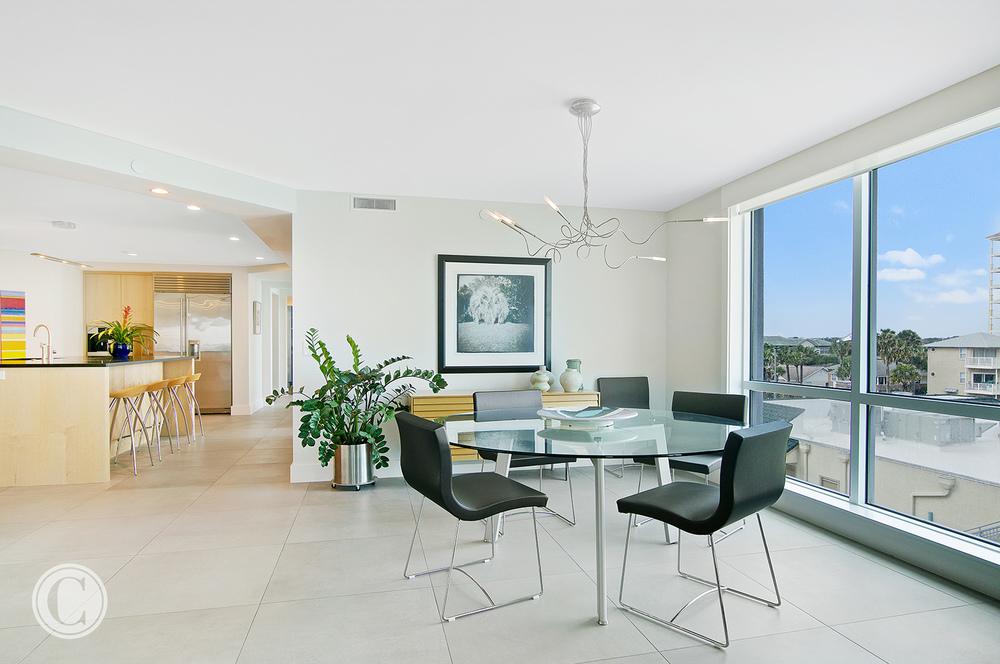 Jax Bch. Renovation, Acquilis Condominium, Dining Area | Cornelius Construction Company