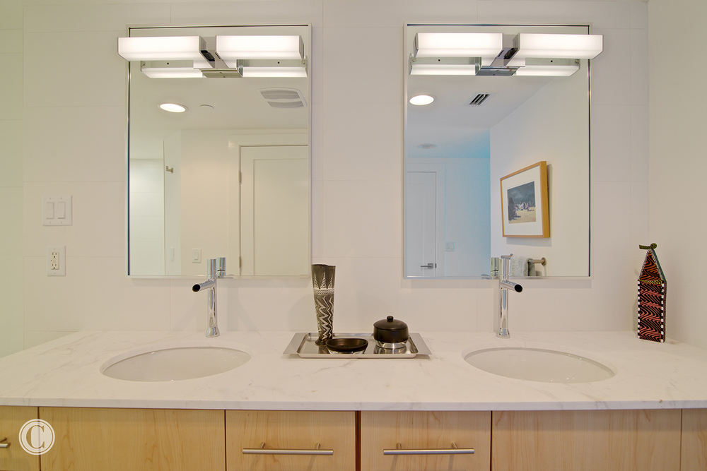 Jax Bch. Renovation, Acquilis Condominium, Guest Bathroom, ©Wally Sears Photography
