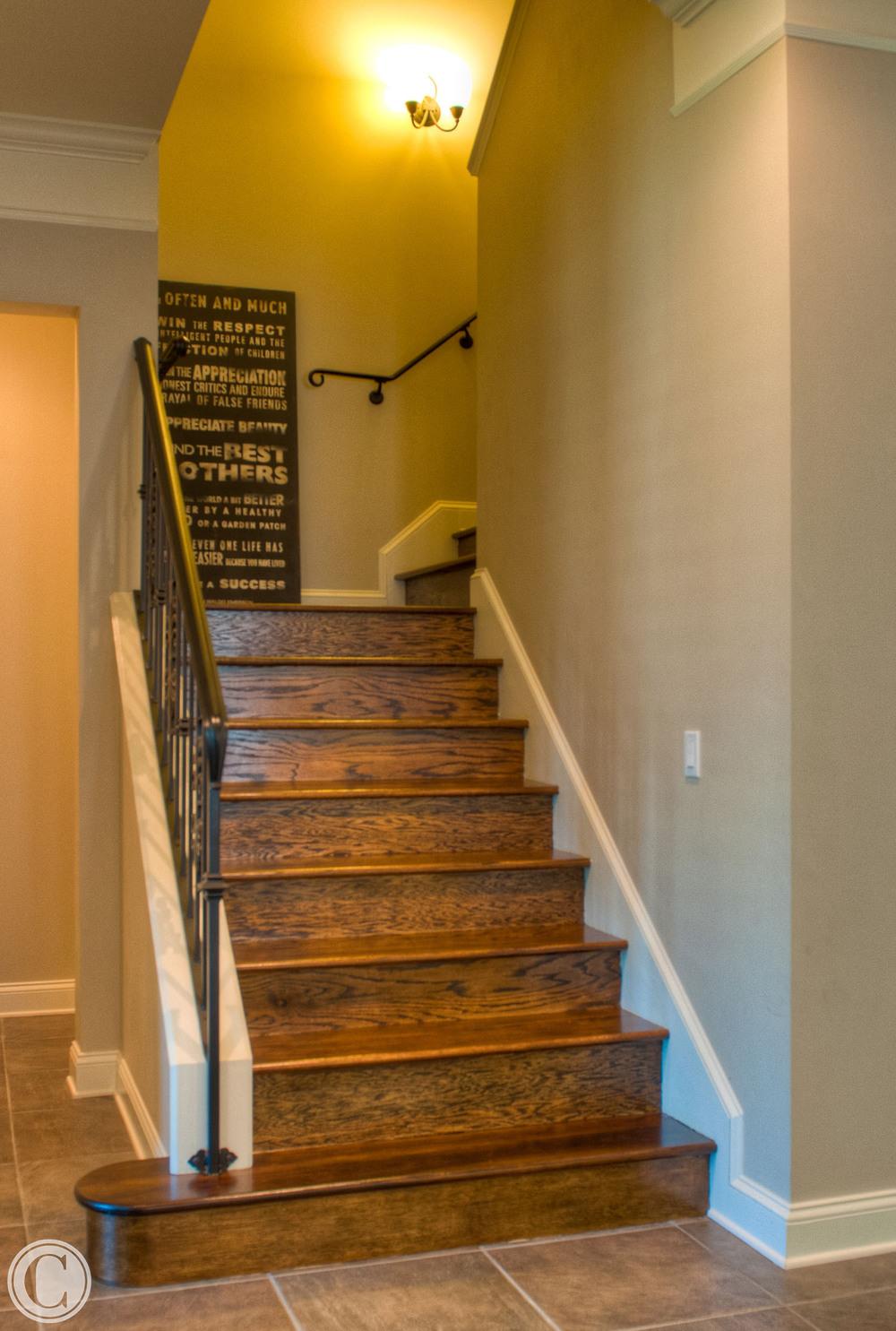 Wooden Staircase remodel, Glen Kernan, Jacksonville, Florida, ©Mark Sain Wilson Photography
