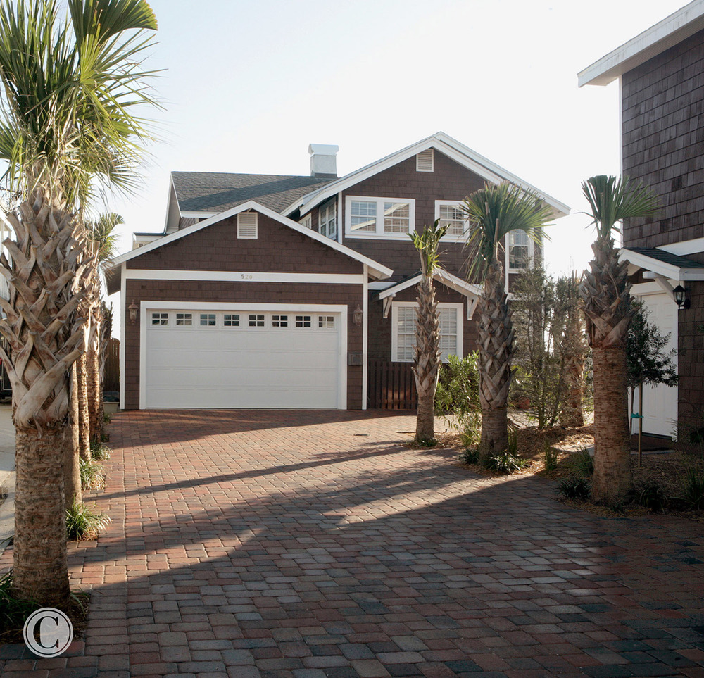 View from Street, Full Gut-Remodel, Classic Oceanfront Beach House, Neptune Beach, FL ©Pablo Rivera Photography
