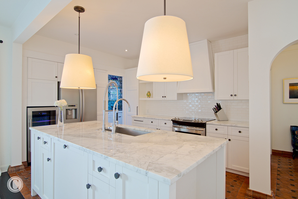 All White Kitchen, , Home renovation, San Marco, Jacksonville, FL - ©Wally Sears Photography