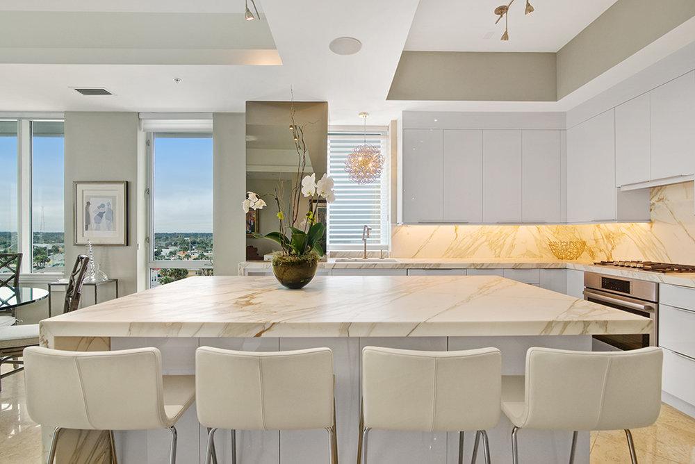 Oceanfront condo kitchen renovation, Jacksonville Beach, Florida  | Cornelius Construction Company