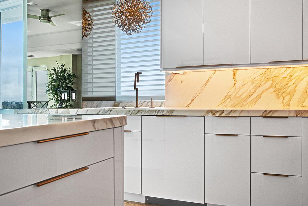 Oceanfront condo kitchen renovation, Jacksonville Beach, Florida  © Wally Sears Photography