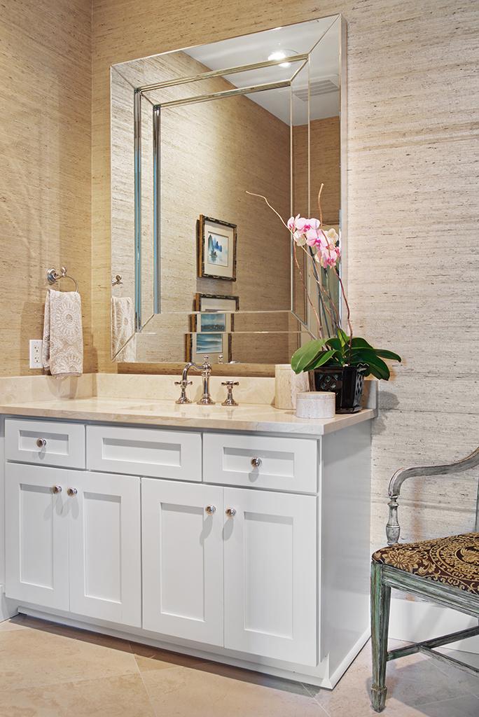 Oceanfront condo bathroom renovation, Jacksonville Beach, Florida  © Wally Sears Photography