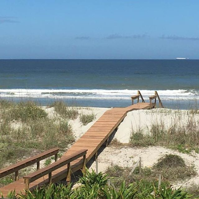 View from the office today - new beach dune walkover - happy Friday! #builder #beach #jacksonville #beachlife #contractor #ilovemyclients