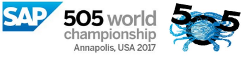 SAP 2017 International 5o5 World Championships: Sept. 20-29, 2017