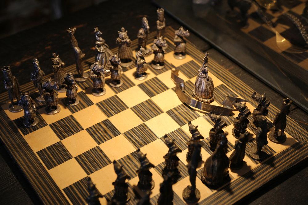 242 Grand Jewelry Perry Gargano custom made chess set