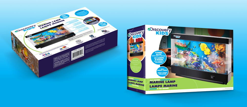 PACKAGING DESIGN | Bilingual Product Packaging For Discovery Kids Animated Marine  Lamp.