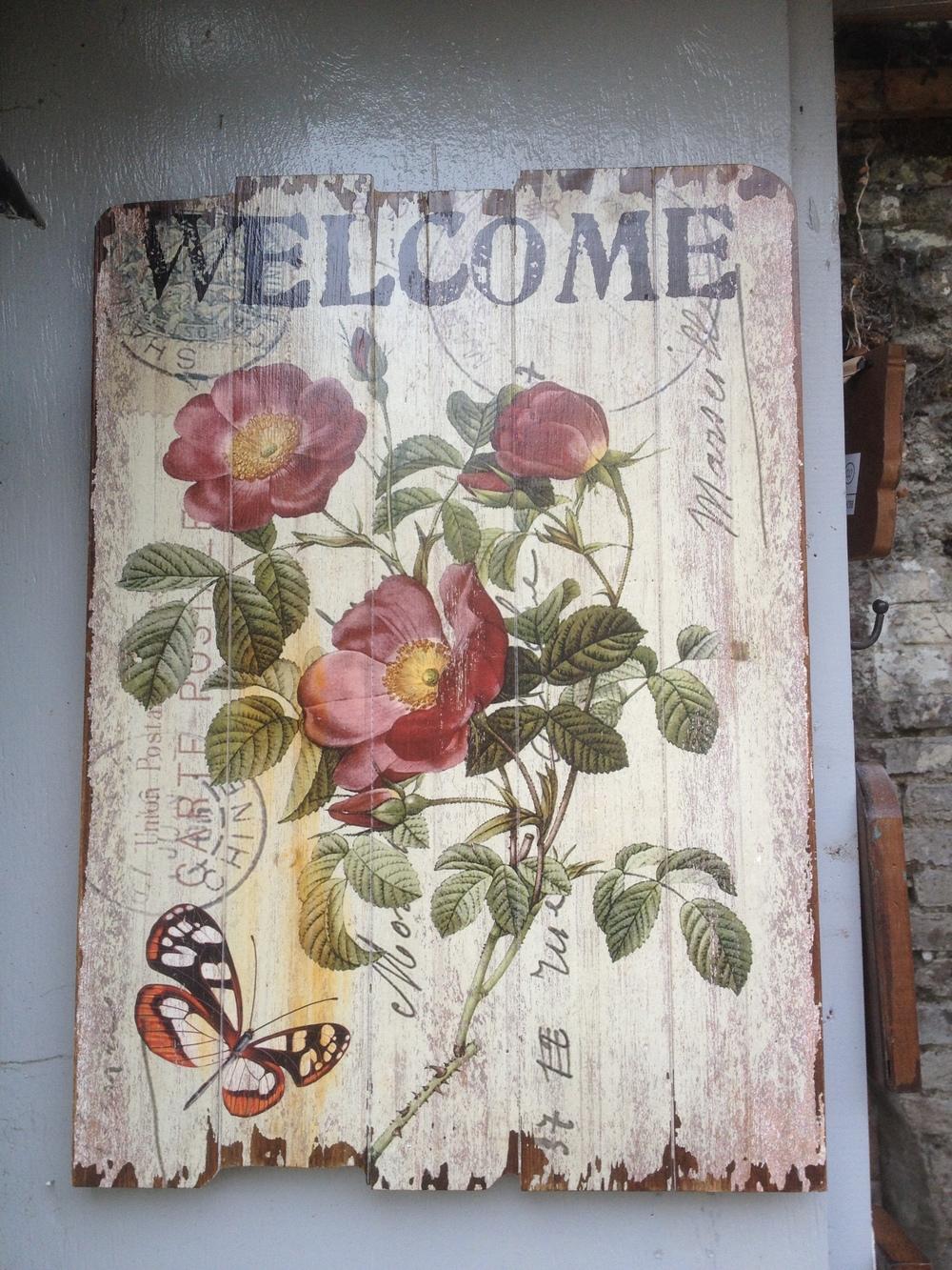 Vintage Flower Sign