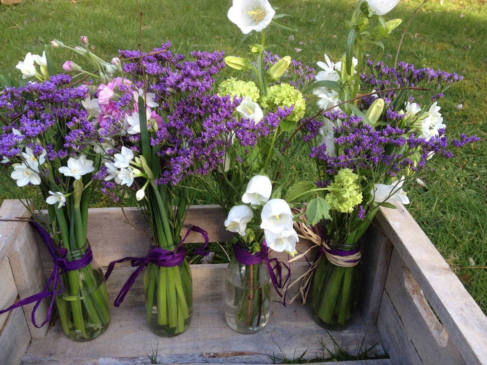 """Bunches in Bottles  """" There are always flowers for those who see them""""   Hans Christian Anderson"""