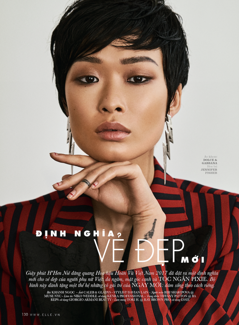03/2018 Editorial for  Elle Vietnam / beauty story  Ve Dep /photographed by  Caleb & Gladys.