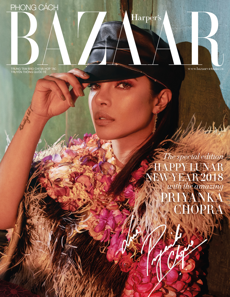 02/2018 Editorial for  Harper's BAZAAR Vietnam/  cover story featuring  Priyanka Chopra /photographed by Greg Swales.