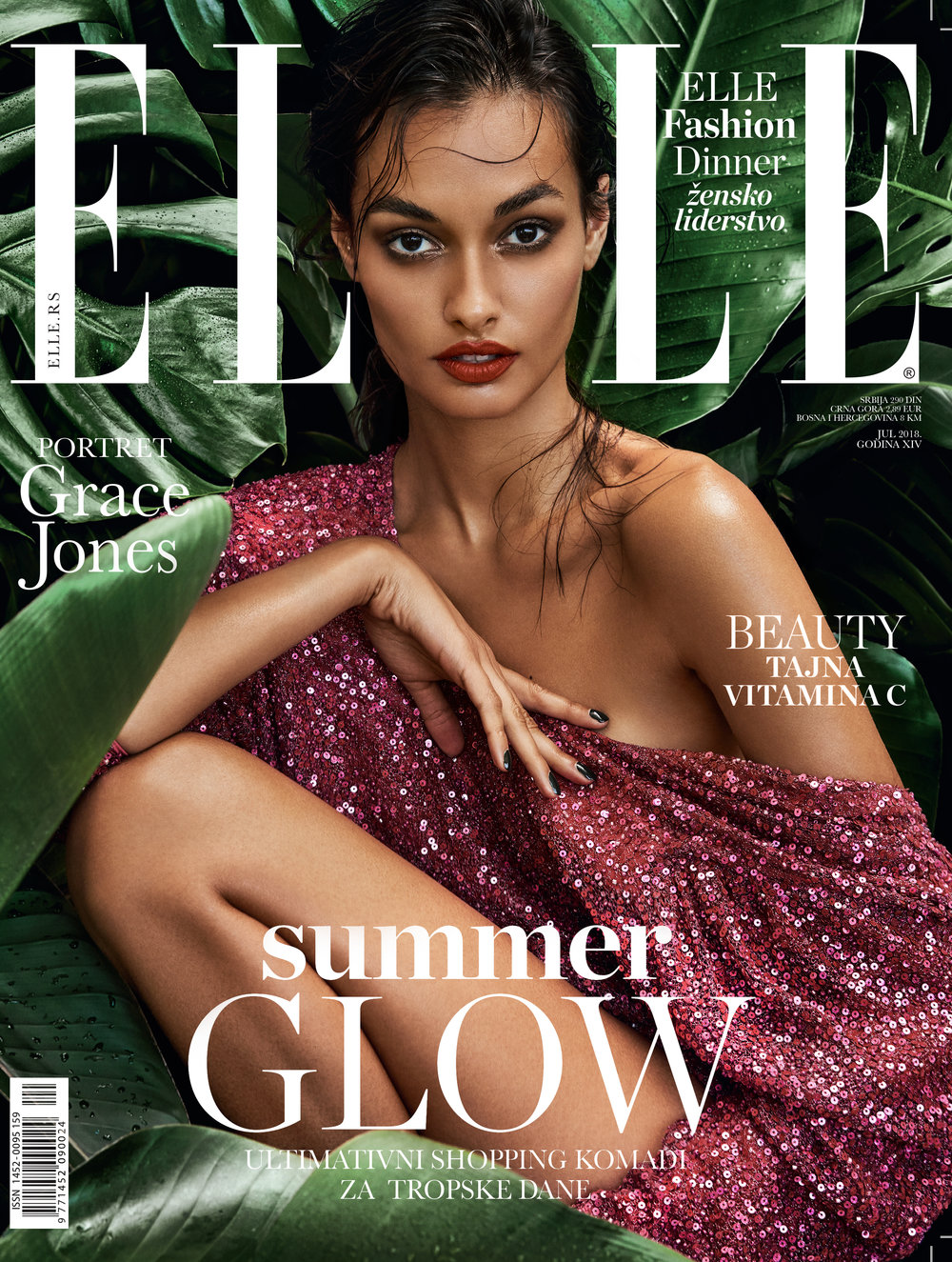 07/2018 Editorial for  Elle Serbia /cover story  Jungle Fever/  photographed by  Caleb & Gladys.