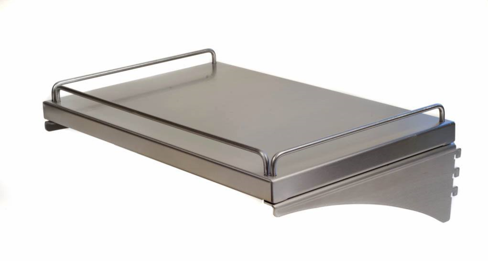 wall mount stainless steel shelf
