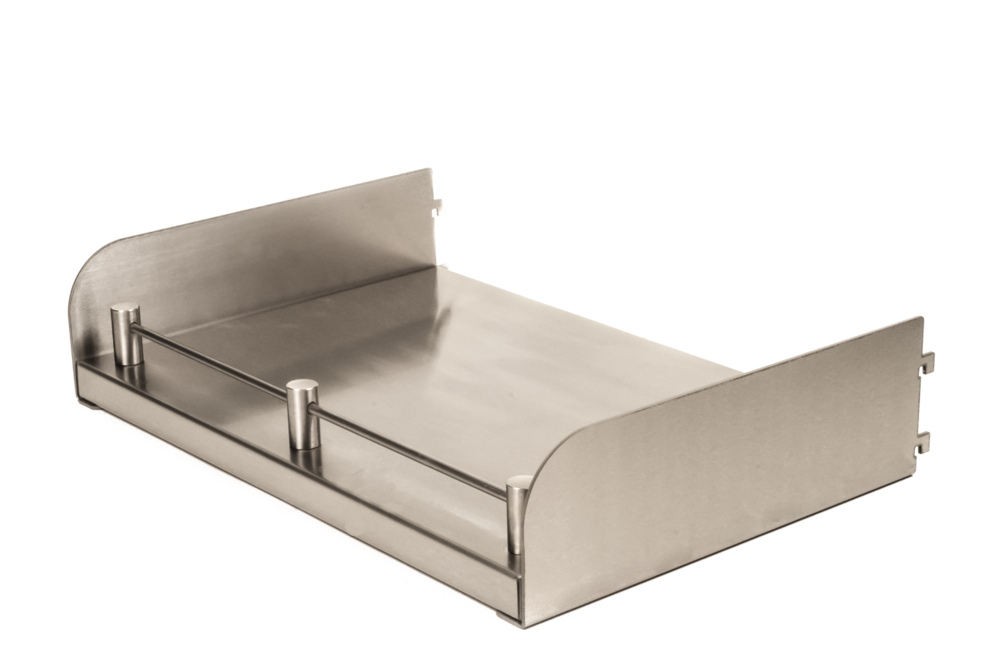 Stainless Steel Shelving Systems Taylor Shelving - Stainless steel table with lip