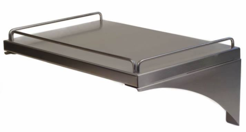 Stainless Steel Wall Shelf with Seismic Lip 16
