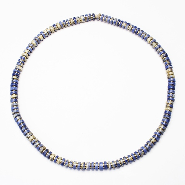 sodalite cleo silver sterling necklace in tjazelle