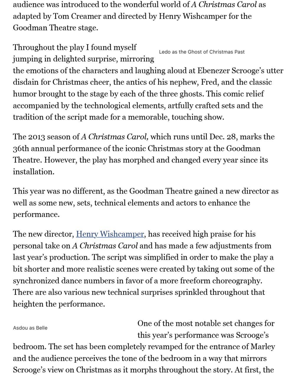 loyola phoenix a christmas carol at the goodman theater
