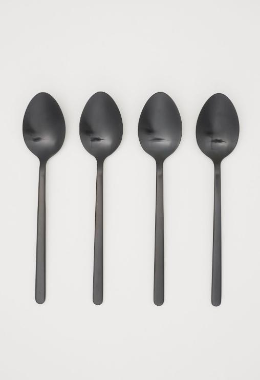 Matte black flatware