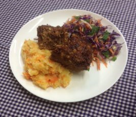 Anna Caldwell & Stacey Wood   Meatloaf with Country Mash & Salad    Beef + Lamb NZ Magic Mince