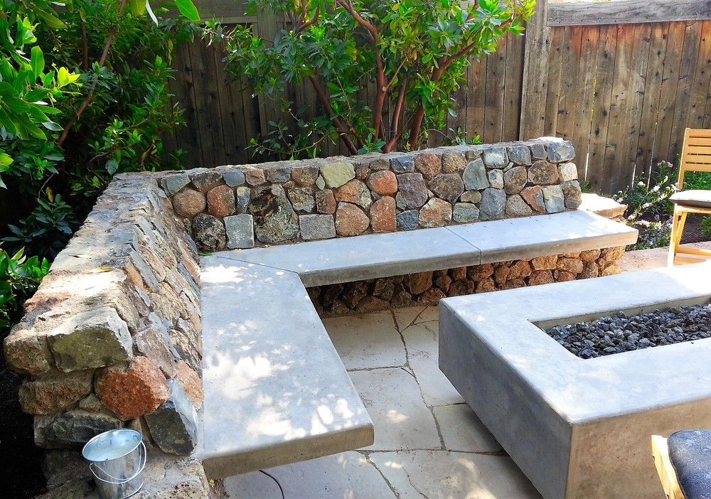 CUSTOM FIRE TABLE U0026 STONE BENCHES
