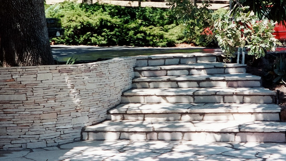 ledgestone wall ledgestone steps.jpg