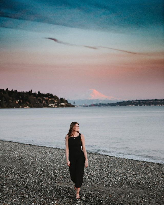 @catherineabennion was a beauty inside and out and wow did we get lucky with an amazing Seattle sunset! Senior sessions are always so much fun.