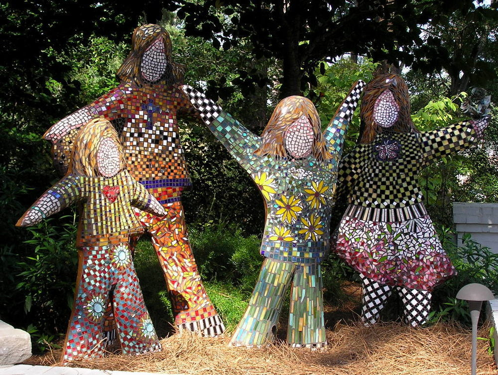 """Brown Girls,"" Glass Mosaic, 6' x 5'"