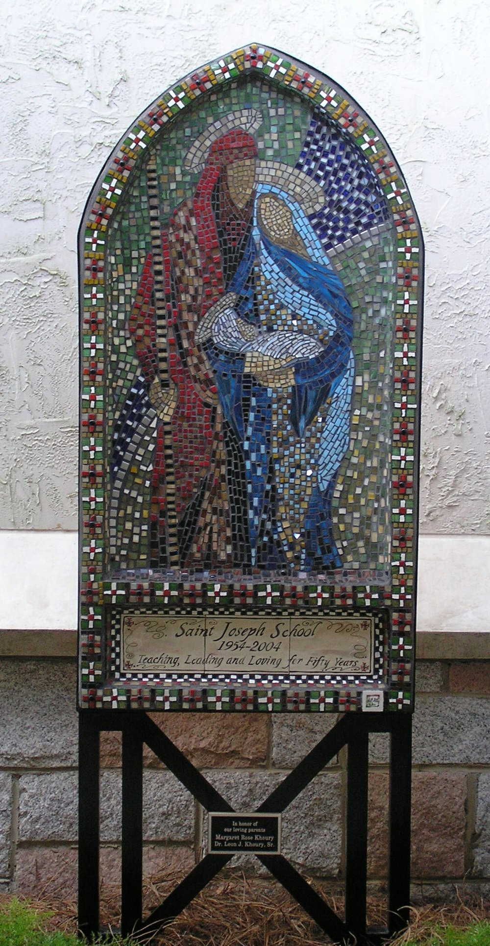 """The Holy Family,"" Glass and Tile Mosaic, 36"" x 8'"