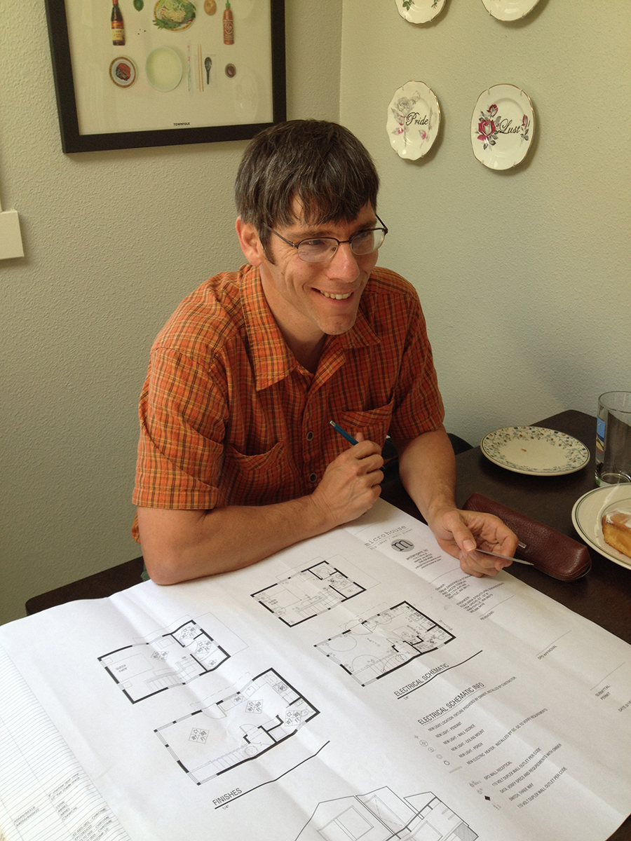 Bruce of Microhouse reviews plans.
