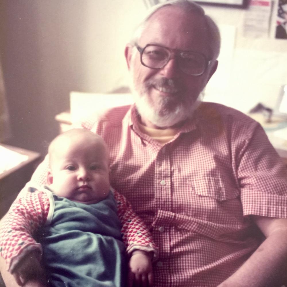 Opa holding Drew, 1984.
