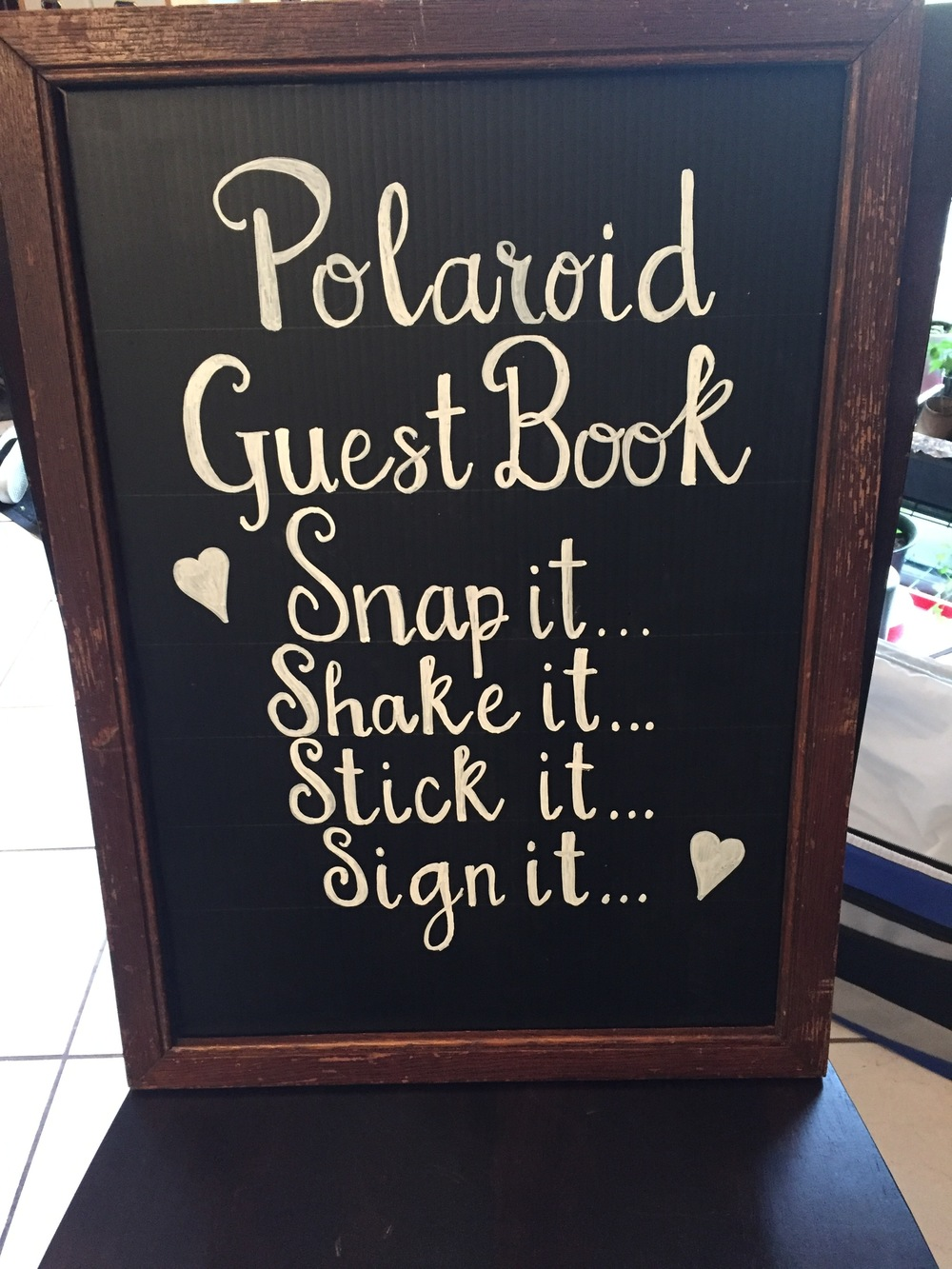 Polaroid Guest Book Sign