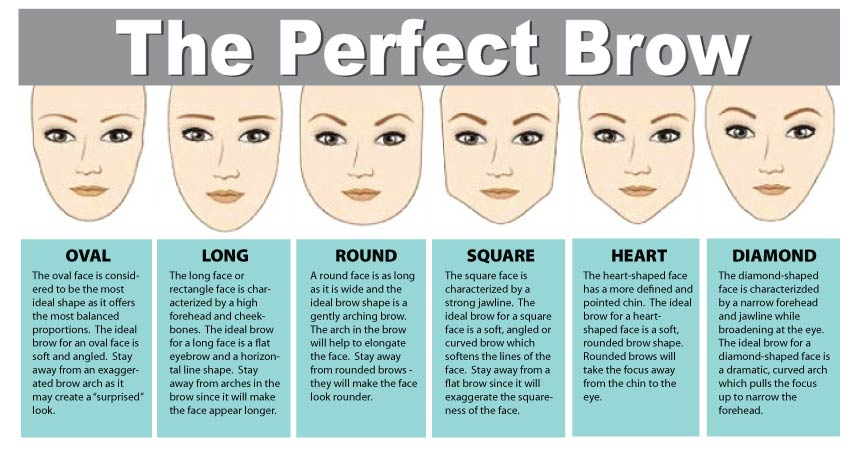 perfect eyebrows for your face shape. brows 101 - the perfect shape and technique. eyebrows for your face