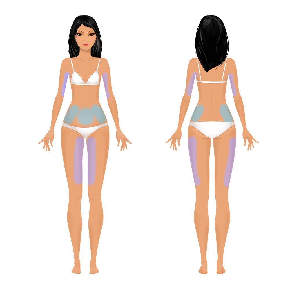 6 Areas: 1.5-inch loss guarantee. Many people lose more! This customized treatment typically includes the stomach, each hip/flank, outer OR inner thighs OR both arms. This session includes a BONUS 10 minute Whole Body Vibration service which is the equivalent of 30 minutes of exercise. Buy Now