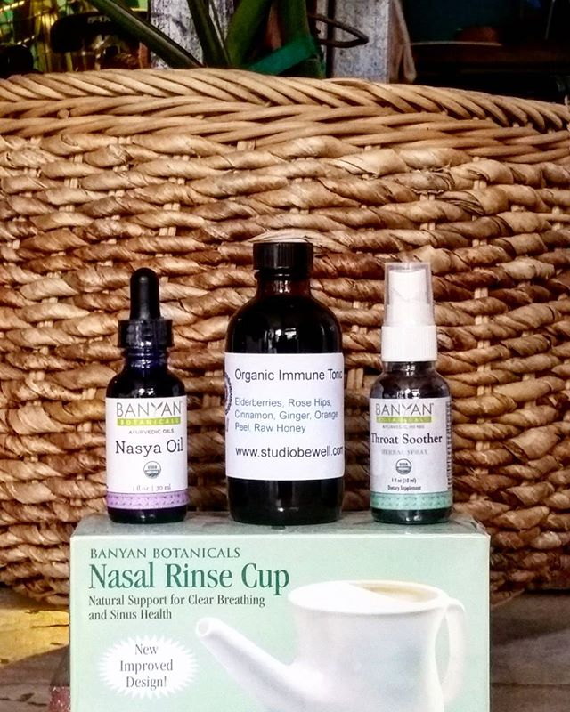 Some of our favorite things for this rough cold and flu season. Support your body with natural ingredients and whole nourishing foods.  Immune tonic now available online at www.studiobewell.com/shop  #herbalmedicine #naturalhealer #heal #sandiego #hillcrest #functionalmedicine #nutritionist #selfcare #nourish #livewell #bewell #wellnesscenter #healer #guthealth #immunity #hormones #herbs #elderberry #netipot #ayurveda #holistic #shopnatural #localmade #natural #herbalist
