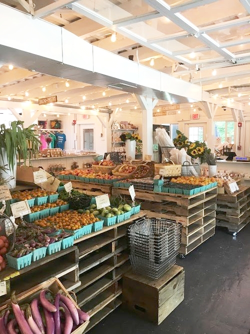 Amber Waves Farm Market in the iconic Amagansett Farmers Market building, 2017 season.