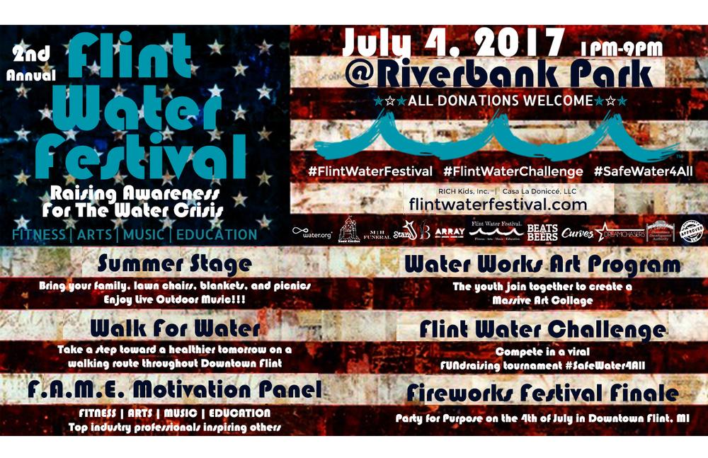 Flint Water Festival 2017 Flyer