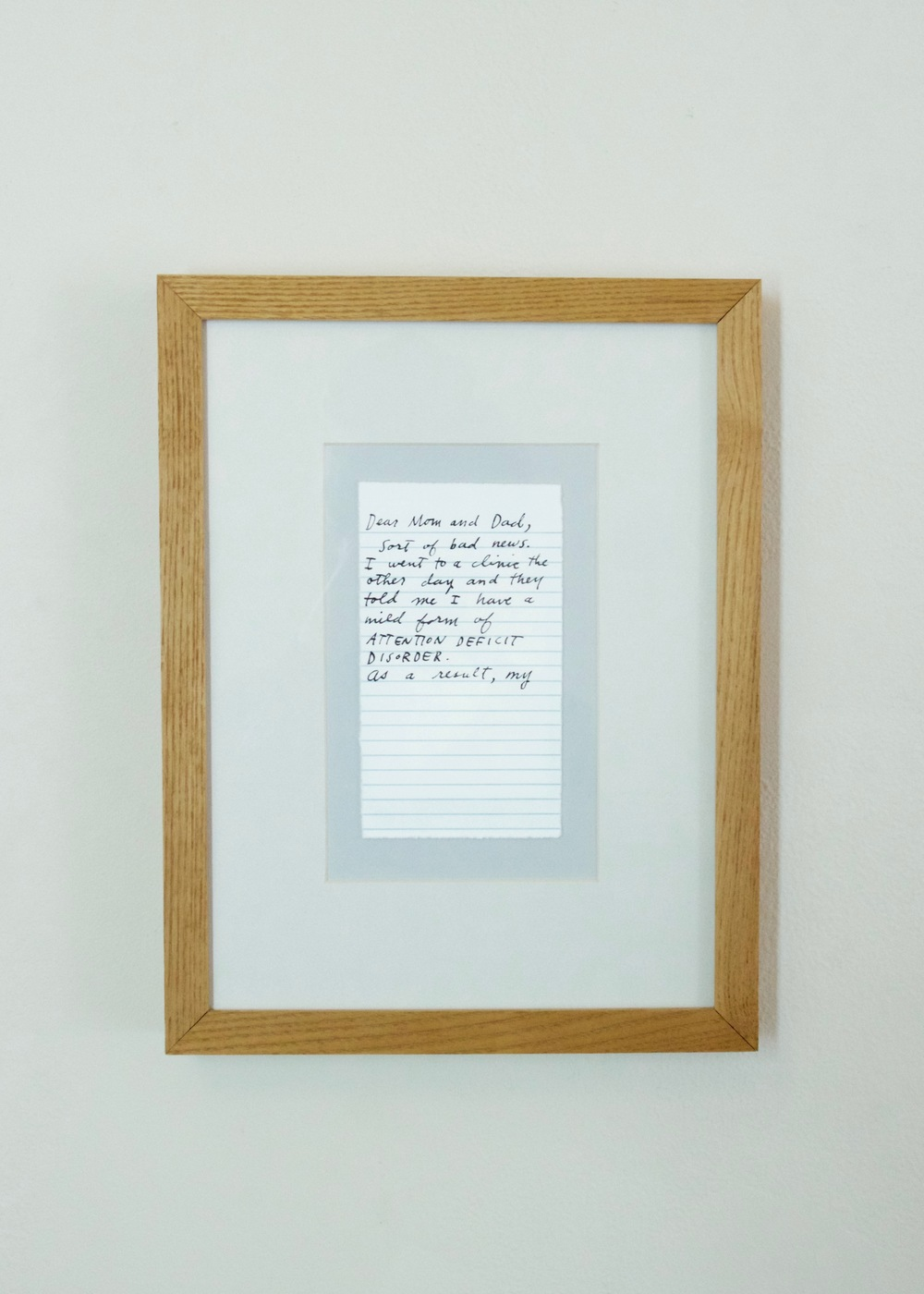 Oli Watt,  Letter Never Sent  , 1999                  screenprint | 13 x 10   in.