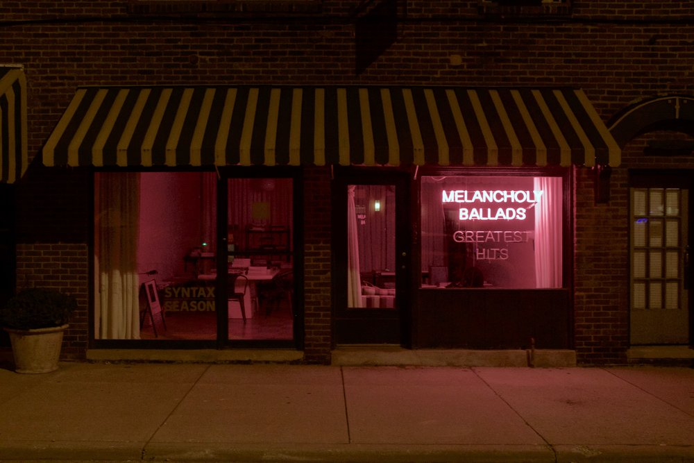 Stephanie Brooks,  Melancholy Ballads, Greatest Hits  , 2016                  neon |   36 X 48 in.