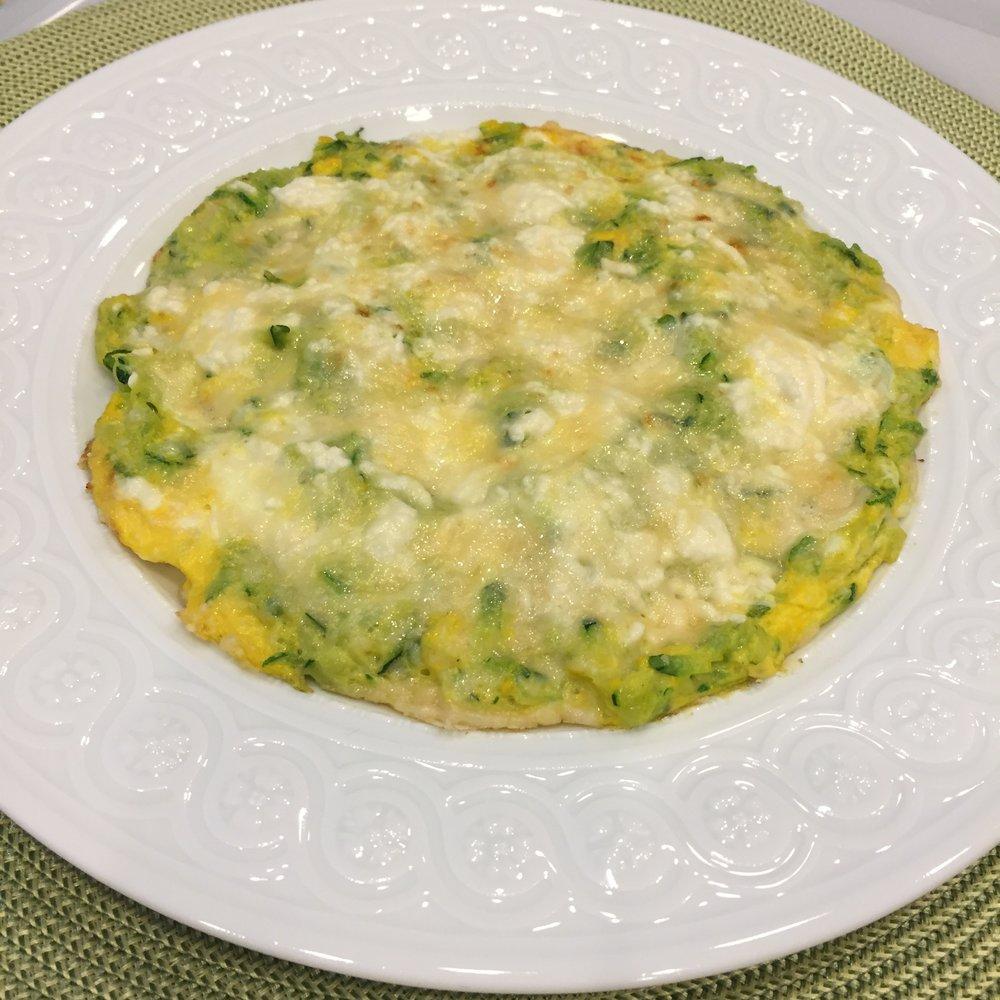 Delicious, easy Zucchini 2-egg Frittata