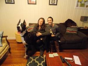 Sampson (FKA Satchmo) smiling for the camera because he's so darned happy in his new home!!