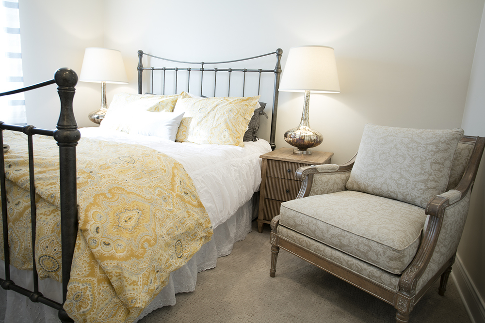 Always make a guest room inviting and comfortable!