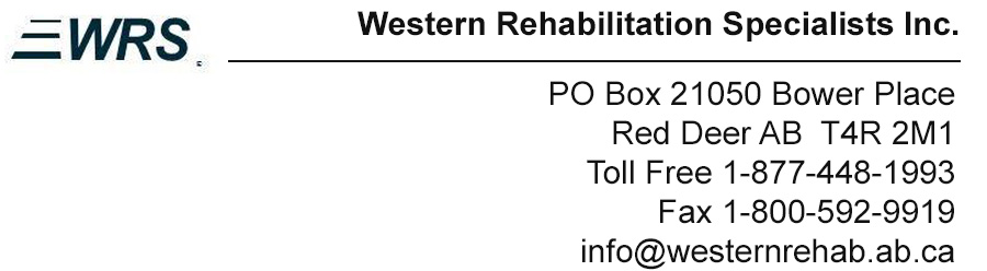 Western Rehabilitation Specialists Inc.